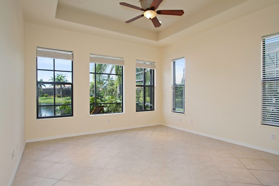 Real Estate Photography - 10691 LONGSHORE WAY EAST, NAPLES, FL, 34119 - Master Bedroom, bright & airy