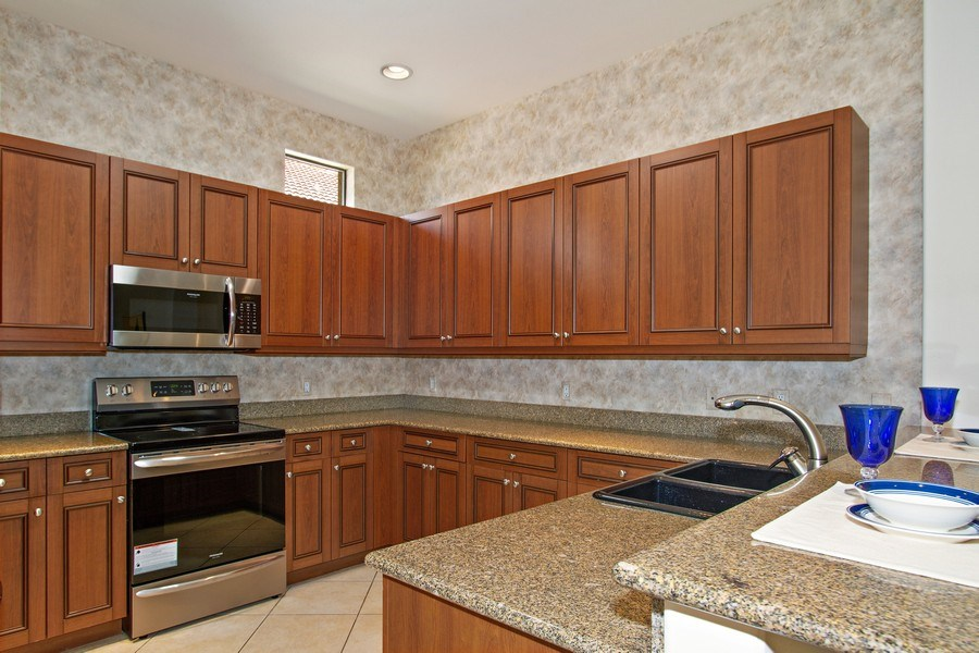 Real Estate Photography - 10691 LONGSHORE WAY EAST, NAPLES, FL, 34119 - Kitchen with New Appliances