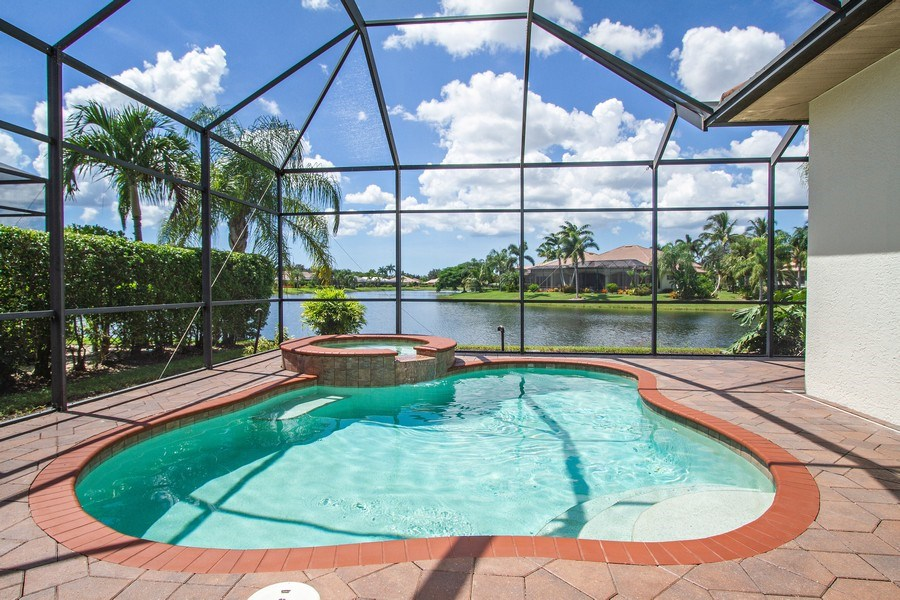 Real Estate Photography - 10691 LONGSHORE WAY EAST, NAPLES, FL, 34119 - Pool and Spa