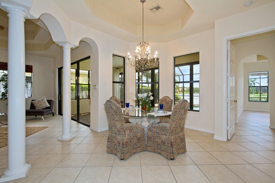 Real Estate Photography - 10691 LONGSHORE WAY EAST, NAPLES, FL, 34119 - Dining Room