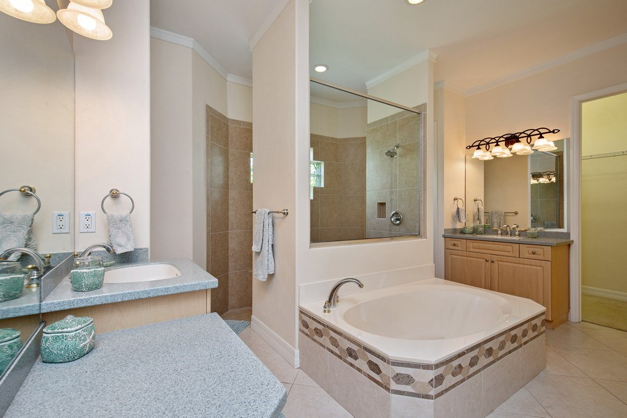 Real Estate Photography - 8998 Lely Island Cir, Naples, FL, 34113 - Master Bathroom