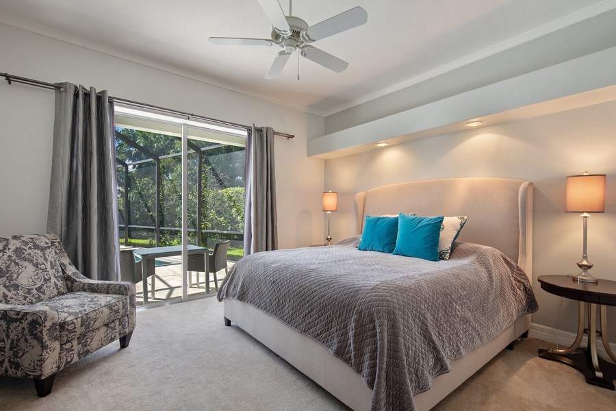 Real Estate Photography - 8998 Lely Island Cir, Naples, FL, 34113 - Master Bedroom