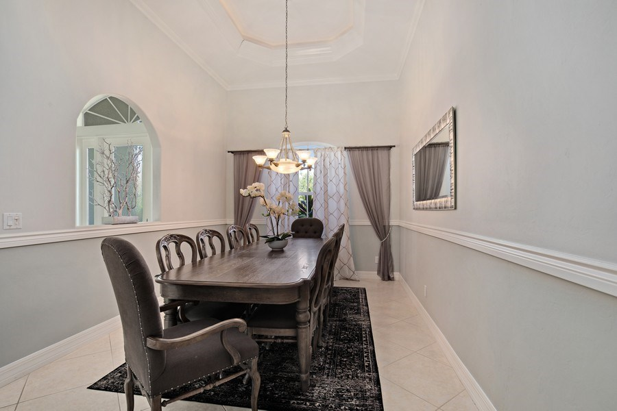 Real Estate Photography - 8998 Lely Island Cir, Naples, FL, 34113 - Dining Room