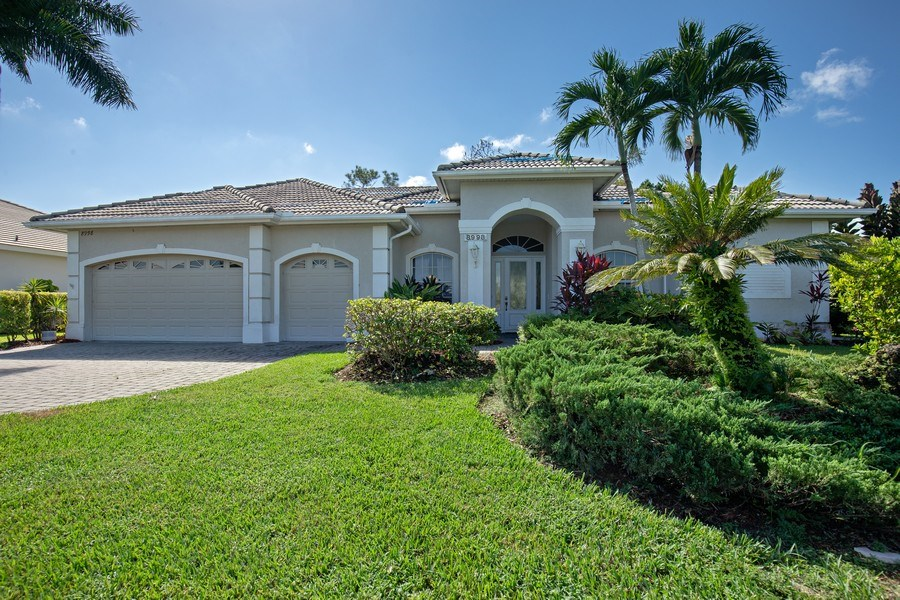 Real Estate Photography - 8998 Lely Island Cir, Naples, FL, 34113 - Front View