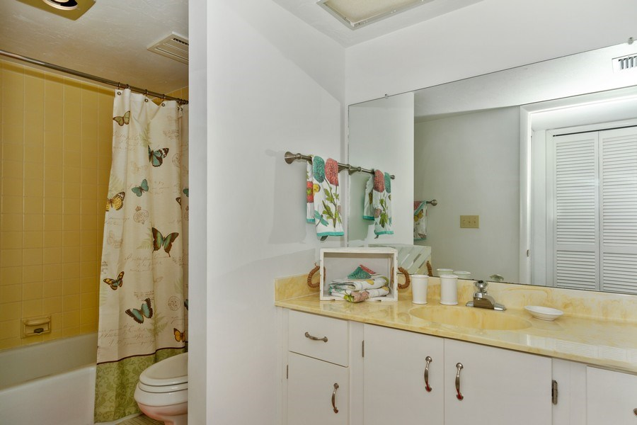 Real Estate Photography - 11030 Gulf Shore Dr, Unit 404, Naples, FL, 34108 - Master Bathroom