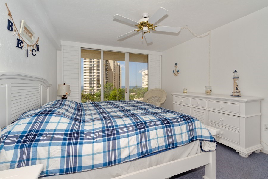 Real Estate Photography - 11030 Gulf Shore Dr, Unit 404, Naples, FL, 34108 - Master Bedroom