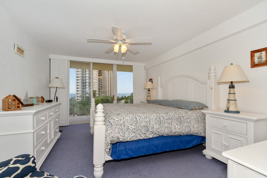 Real Estate Photography - 11030 Gulf Shore Dr, Unit 404, Naples, FL, 34108 - Bedroom
