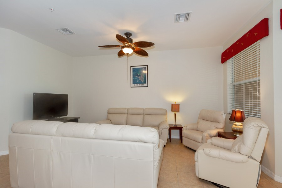 Real Estate Photography - 28105 Mandolin Ct, Unit 213, Bonita Springs, FL, 34135 - Living Room