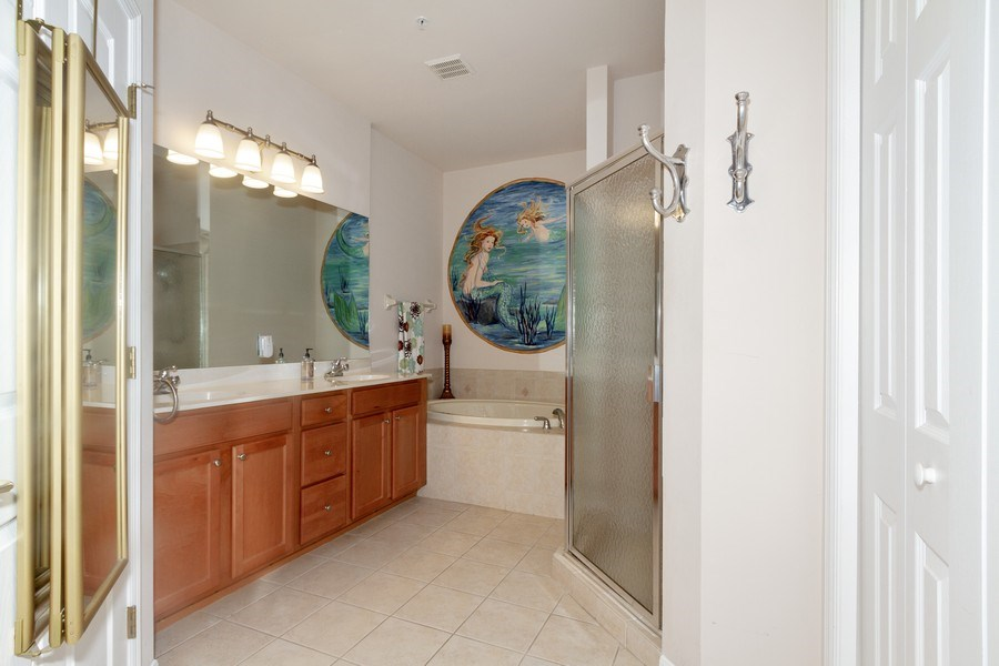 Real Estate Photography - 28105 Mandolin Ct, Unit 213, Bonita Springs, FL, 34135 - Master Bathroom