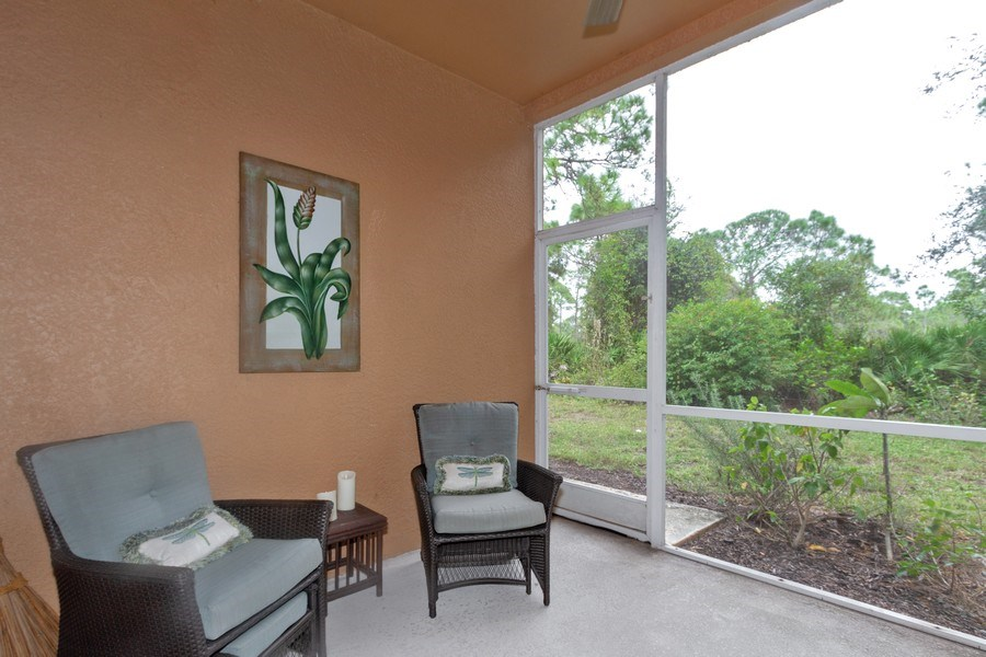 Real Estate Photography - 28105 Mandolin Ct, Unit 213, Bonita Springs, FL, 34135 - Patio