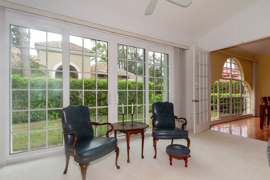 Real Estate Photography - 15389 Royal Fern Ln, Naples, FL, 34110 - Sitting Room
