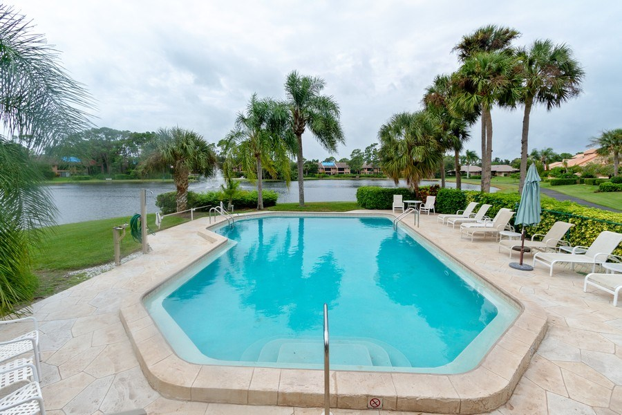 Real Estate Photography - 15389 Royal Fern Ln, Naples, FL, 34110 - Outdoor Pool