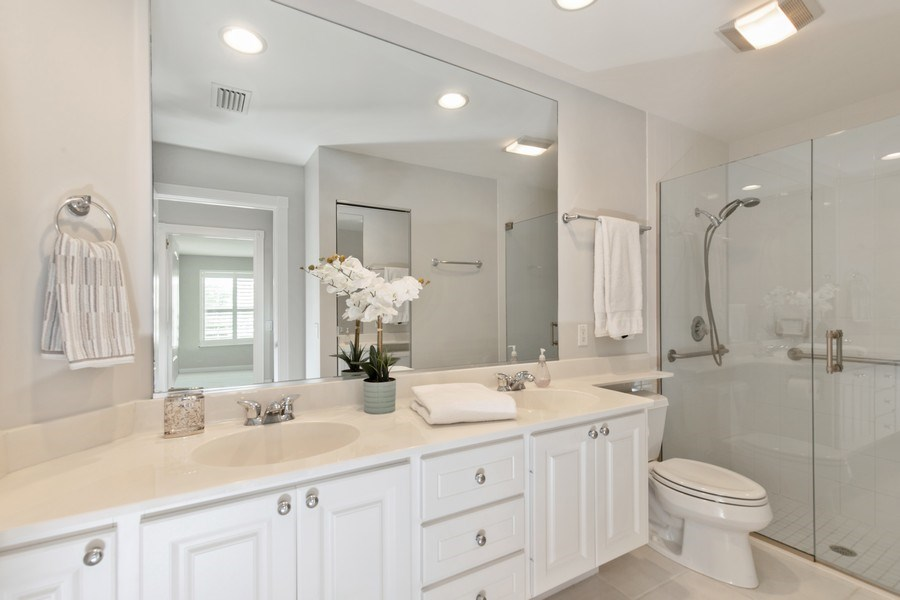 Real Estate Photography - 3612 Exuma Way, Naples, FL, 34119 - Master Bathroom