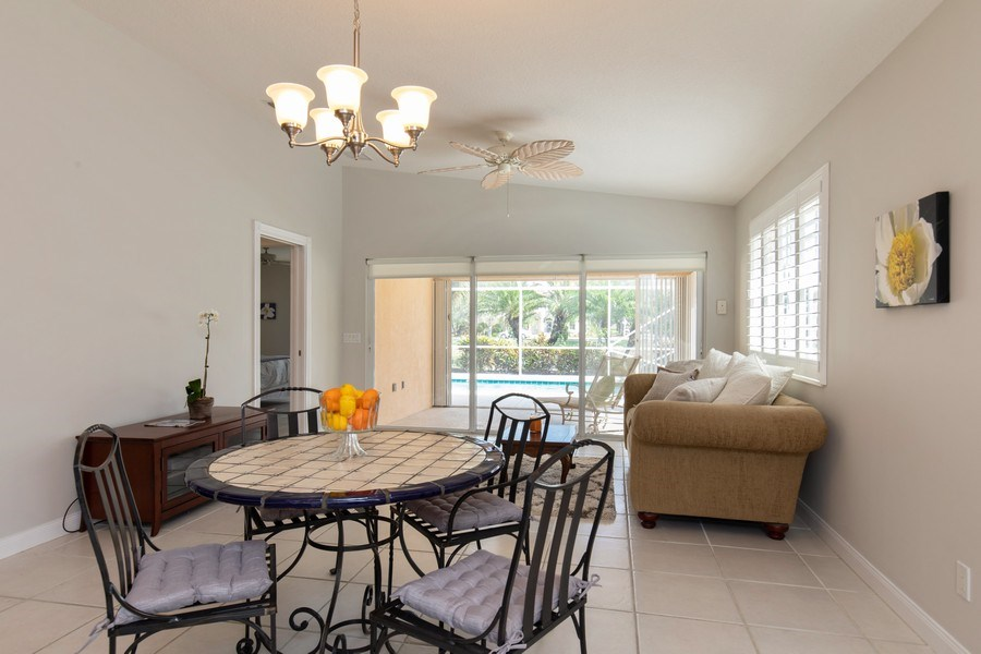 Real Estate Photography - 3612 Exuma Way, Naples, FL, 34119 - Dining Area