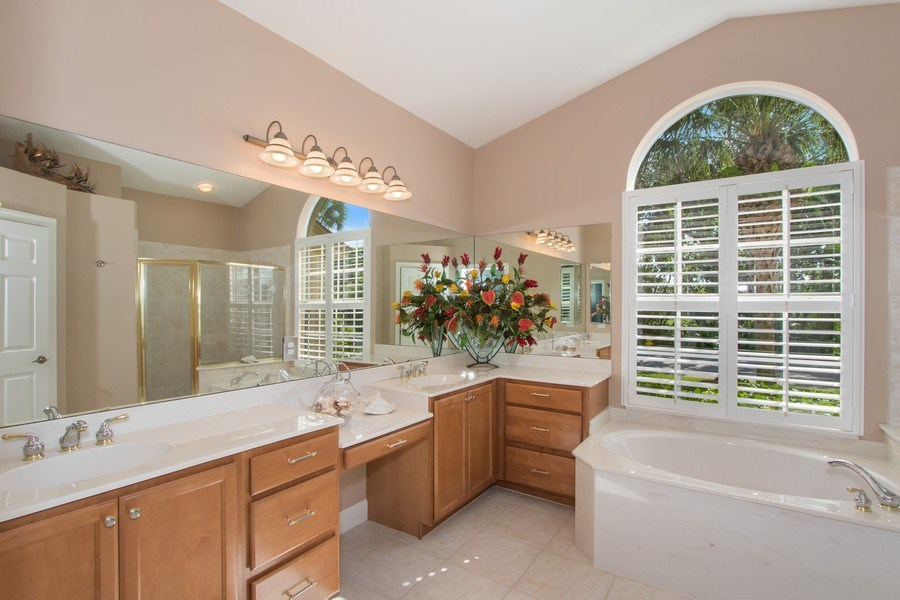 Real Estate Photography - 8904 Greenwich Hills Way, Fort Myers, FL, 33908 - Master Bathroom