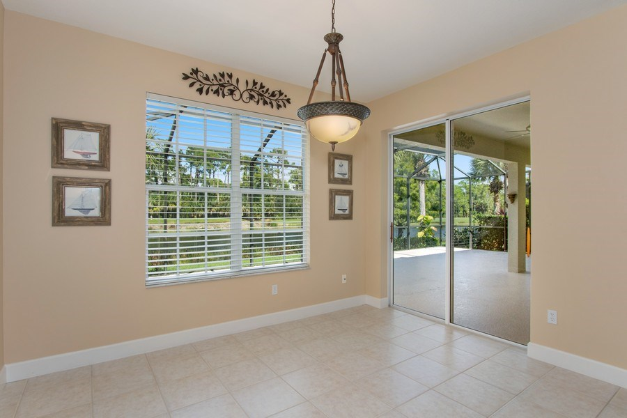 Real Estate Photography - 8904 Greenwich Hills Way, Fort Myers, FL, 33908 - Breakfast Nook