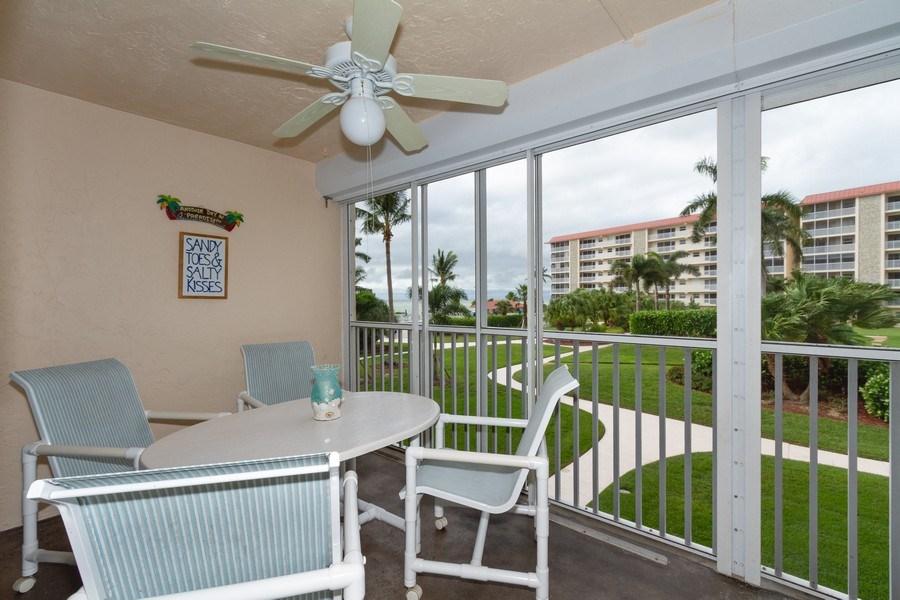 Real Estate Photography - 25740 Hickory Blvd, #D250, Bonita Springs, FL, 34134 - Lanai