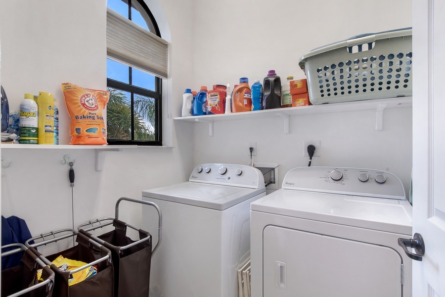 Real Estate Photography - 5455 Ferris Ave, Ave Maria, FL, 34142 - laundry (upper level)