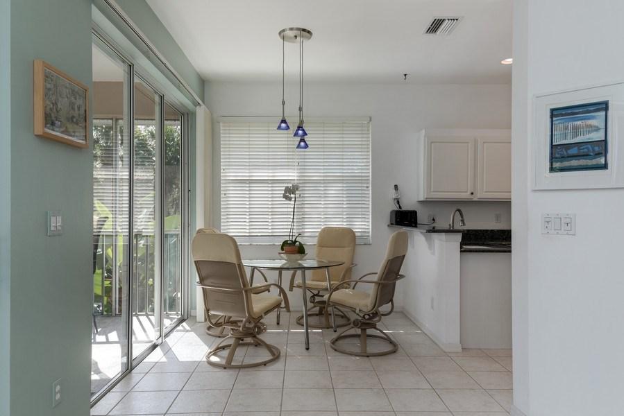 Real Estate Photography - 25071 BALLYCASTLE CT #203, Bonita Springs, FL, 34134 - Breakfast Area