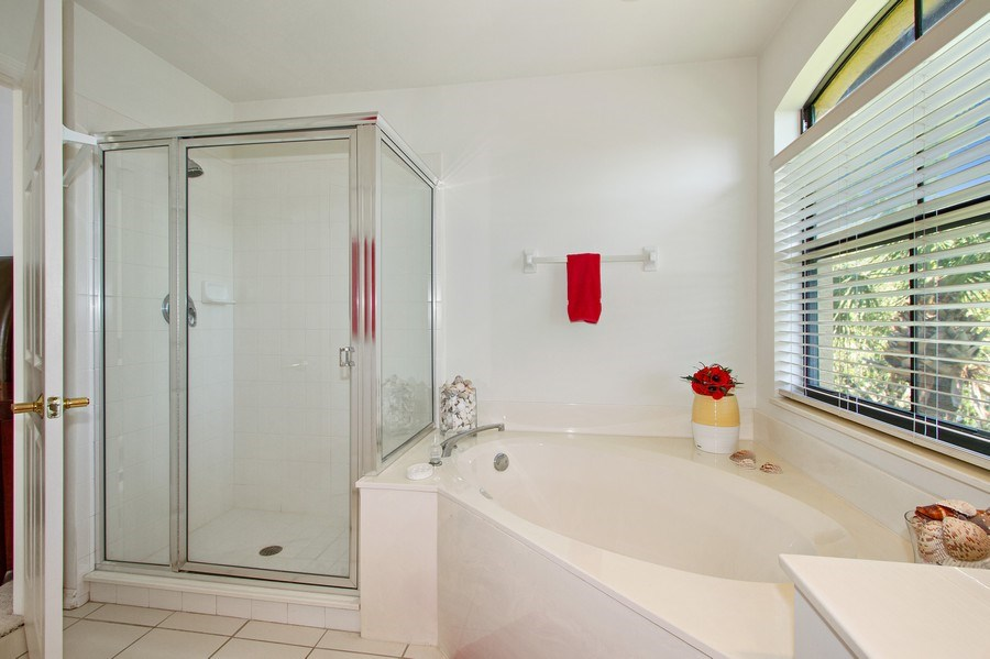 Real Estate Photography - 178 Vintage Cir, Unit 202, Naples, FL, 34119 - Master Bathroom