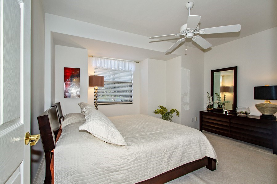 Real Estate Photography - 178 Vintage Cir, Unit 202, Naples, FL, 34119 - Bedroom