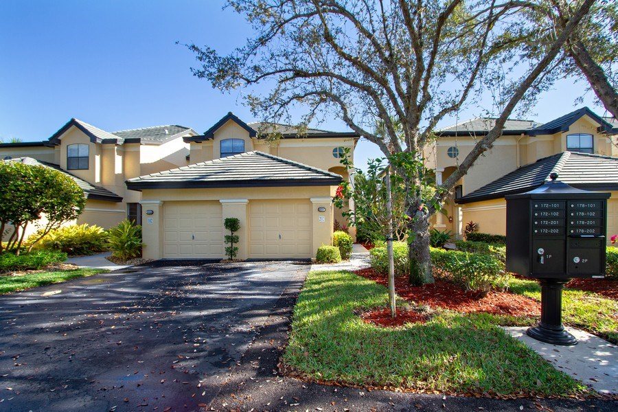 Real Estate Photography - 178 Vintage Cir, Unit 202, Naples, FL, 34119 - Front View
