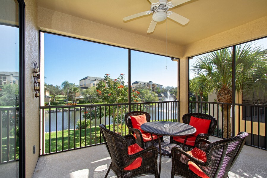 Real Estate Photography - 178 Vintage Cir, Unit 202, Naples, FL, 34119 - Patio