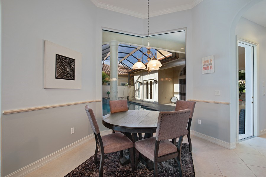 Real Estate Photography - 8894 Shenendoah Cir, Naples, FL, 34113 - Breakfast Area