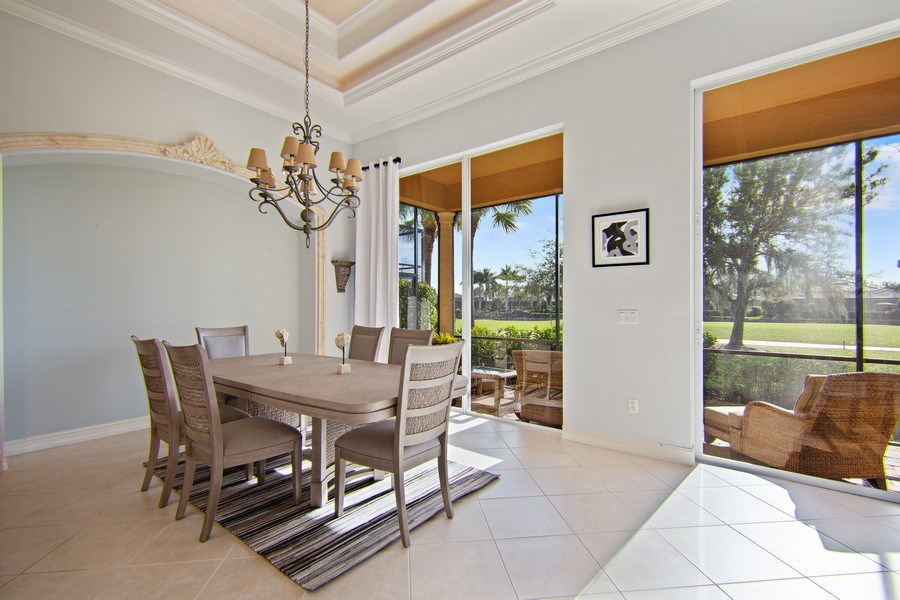 Real Estate Photography - 8894 Shenendoah Cir, Naples, FL, 34113 - Dining Area