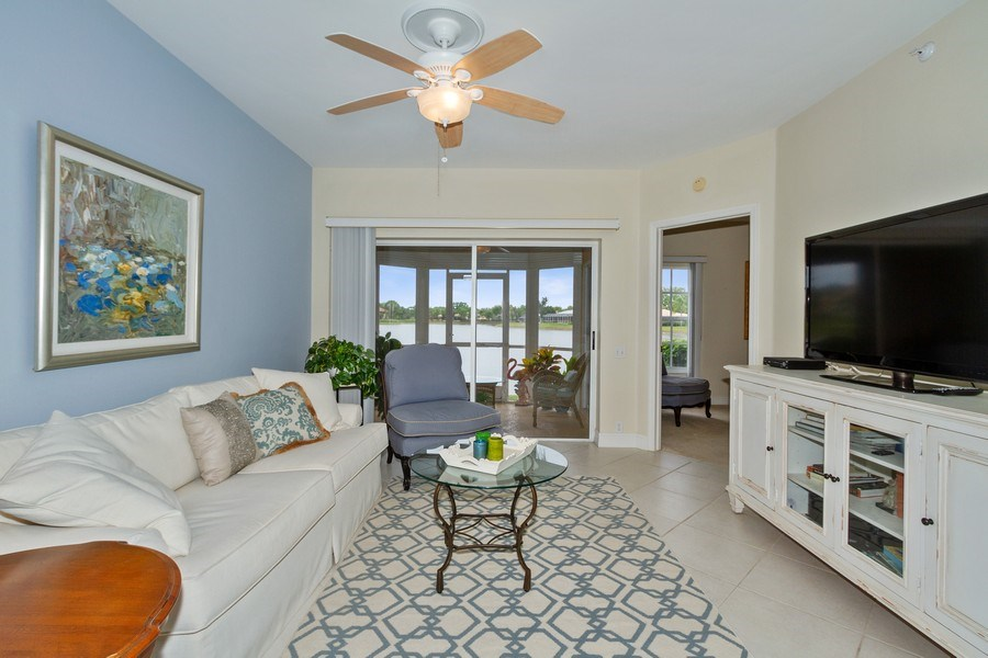 Real Estate Photography - 13060 Amberley Ct, Unit 804, Bonita Springs, FL, 34135 - Living Room