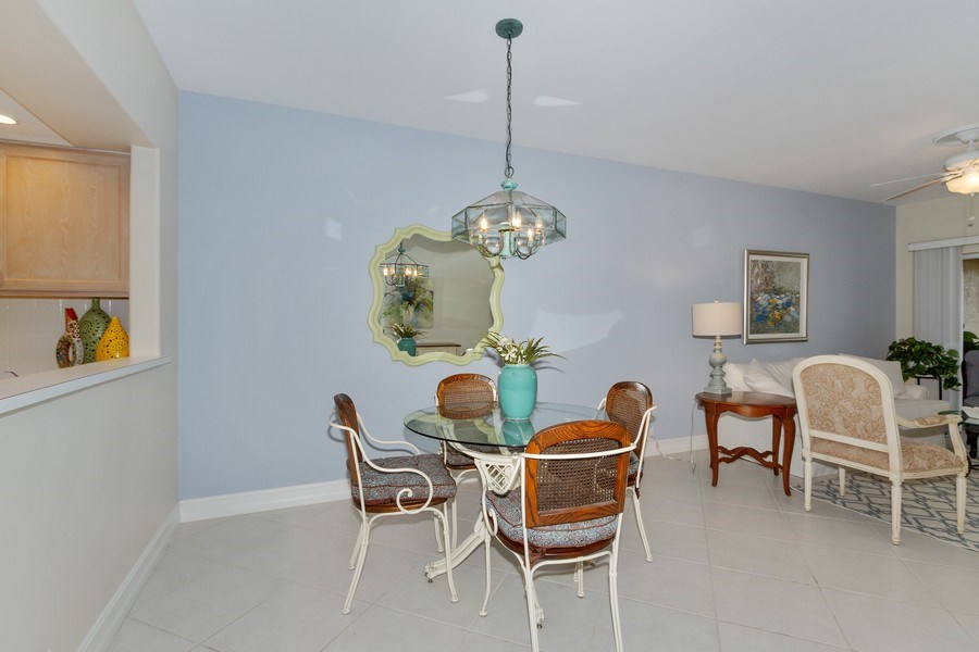 Real Estate Photography - 13060 Amberley Ct, Unit 804, Bonita Springs, FL, 34135 - Dining Room