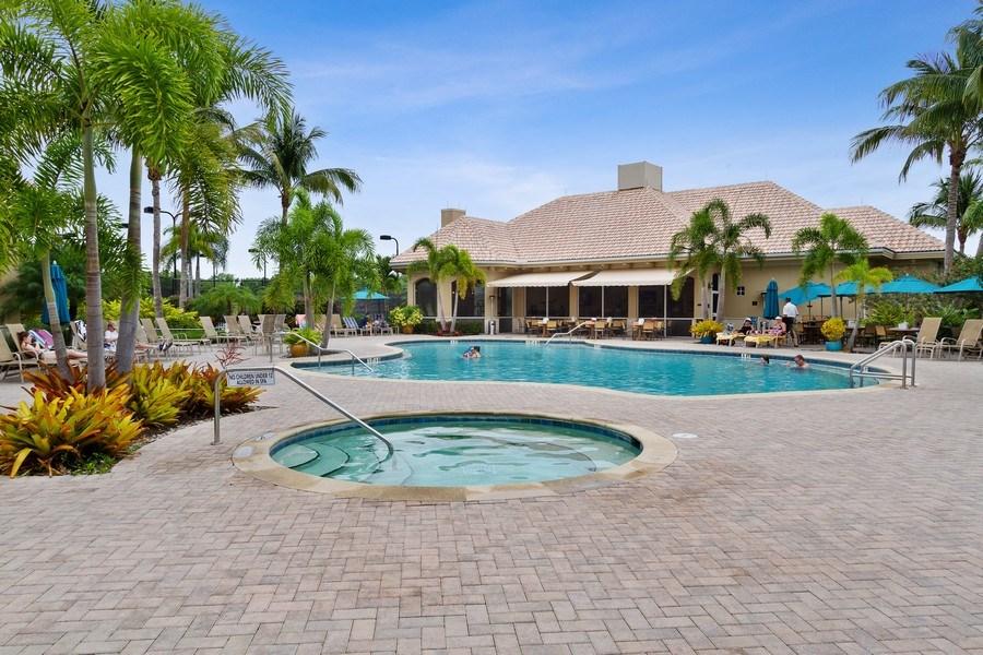 Real Estate Photography - 13060 Amberley Ct, Unit 804, Bonita Springs, FL, 34135 - Pool