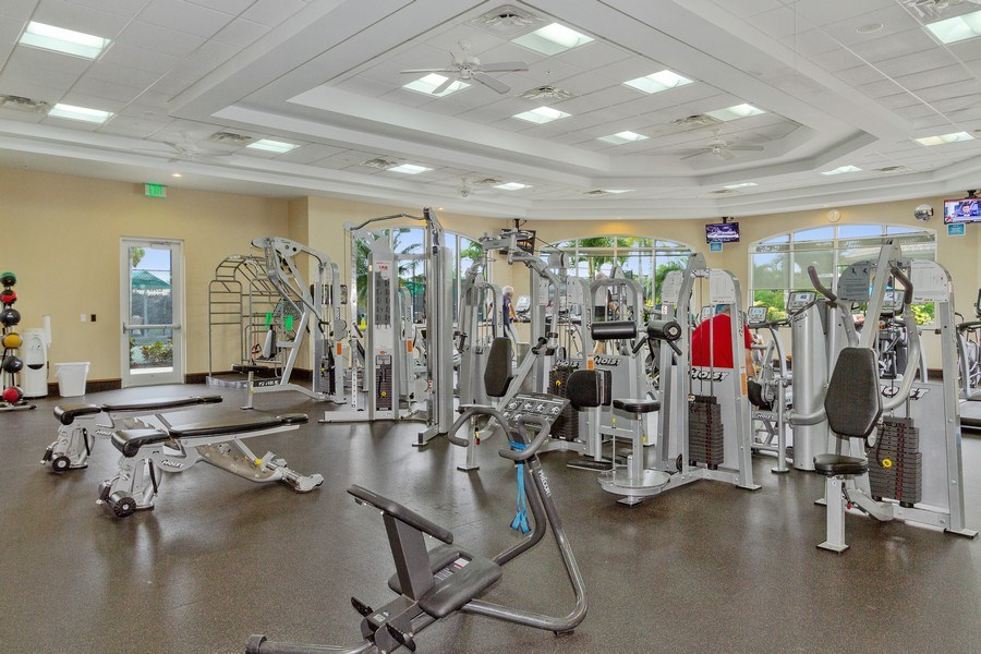 Real Estate Photography - 13060 Amberley Ct, Unit 804, Bonita Springs, FL, 34135 - Fitness Center