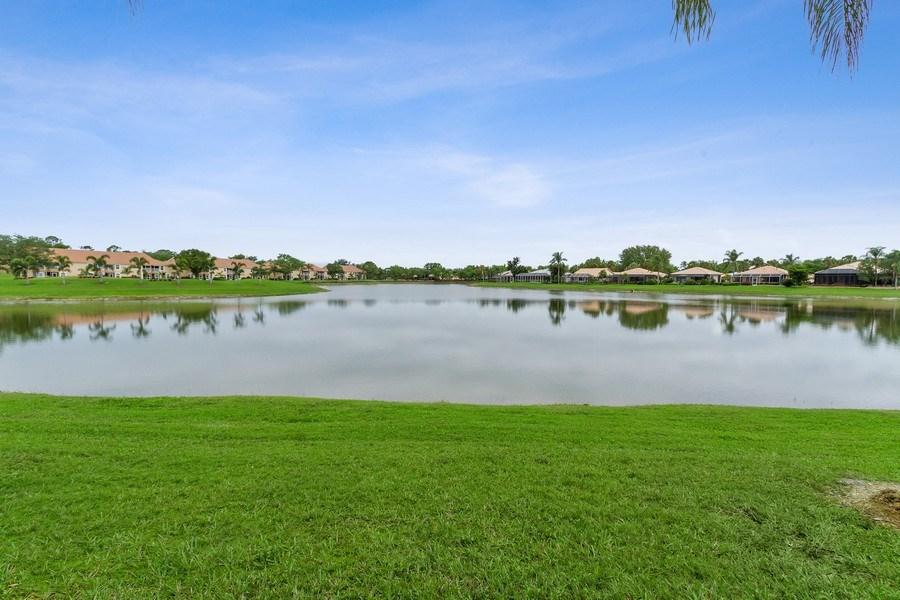 Real Estate Photography - 13060 Amberley Ct, Unit 804, Bonita Springs, FL, 34135 - Lake