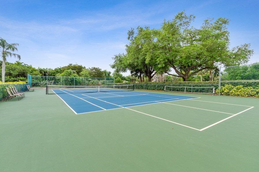 Real Estate Photography - 13060 Amberley Ct, Unit 804, Bonita Springs, FL, 34135 - Tennis Court