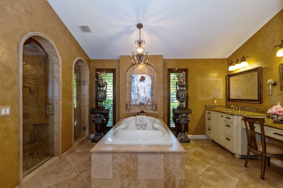 Real Estate Photography - 4381 3rd Ave Northwest, Naples, FL, 34119 - Master Bathroom