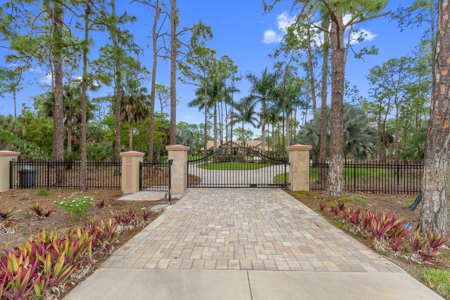 Real Estate Photography - 4381 3rd Ave Northwest, Naples, FL, 34119 - Entrance