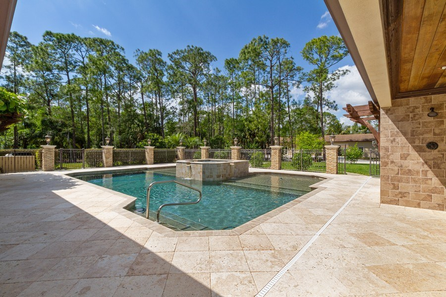 Real Estate Photography - 4381 3rd Ave Northwest, Naples, FL, 34119 - Outdoor Pool
