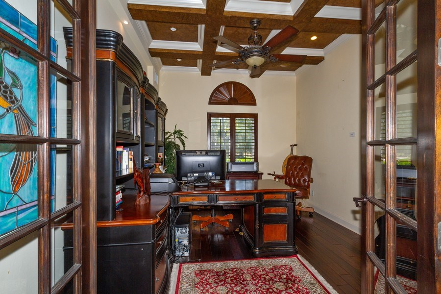 Real Estate Photography - 4381 3rd Ave Northwest, Naples, FL, 34119 - Office