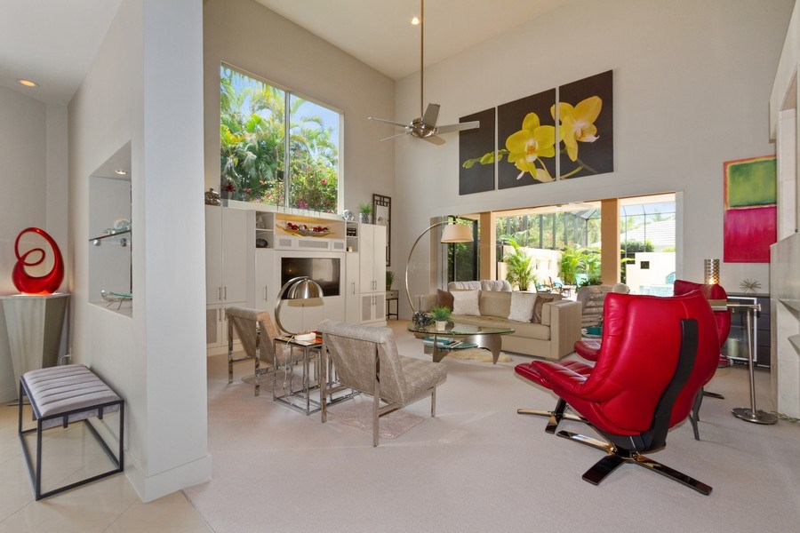 Real Estate Photography - 367 5Th Ave North, Naples, FL, 34102 - Living Room