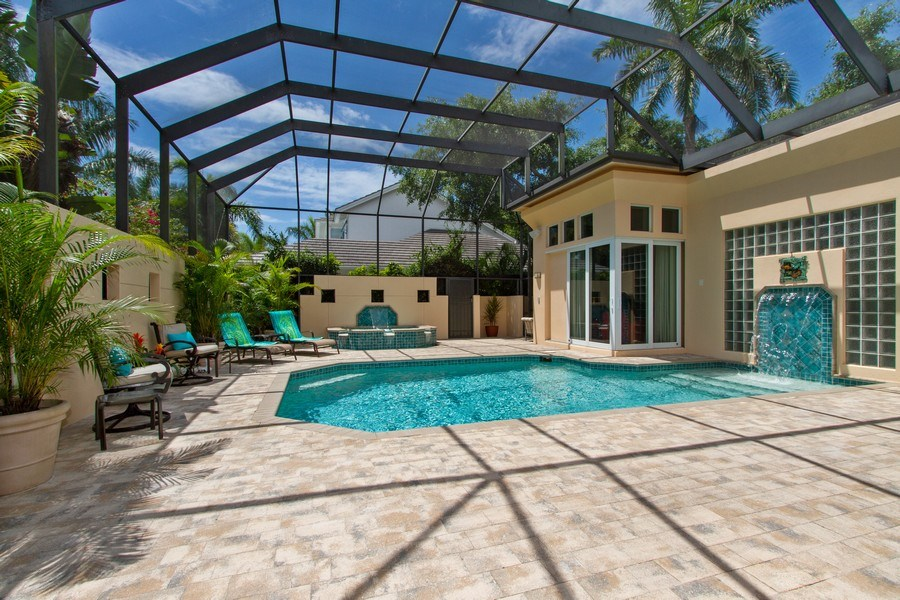Real Estate Photography - 367 5Th Ave North, Naples, FL, 34102 - Outdoor Pool