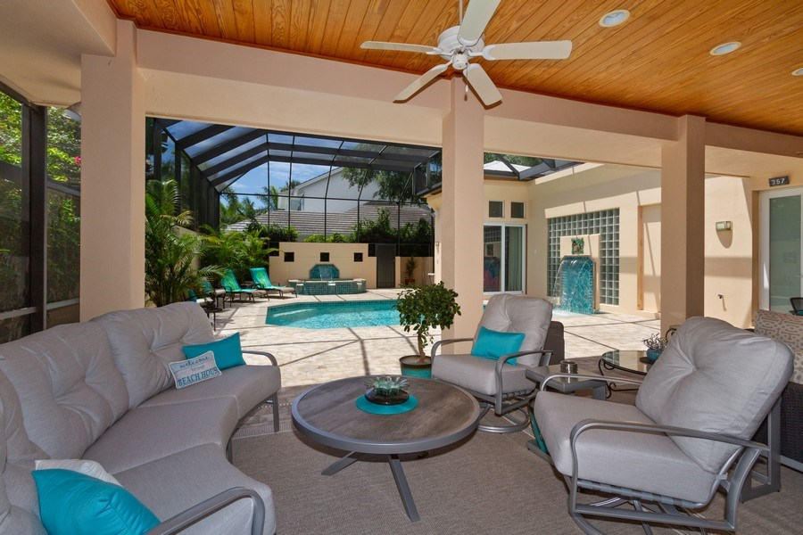 Real Estate Photography - 367 5Th Ave North, Naples, FL, 34102 - Lanai