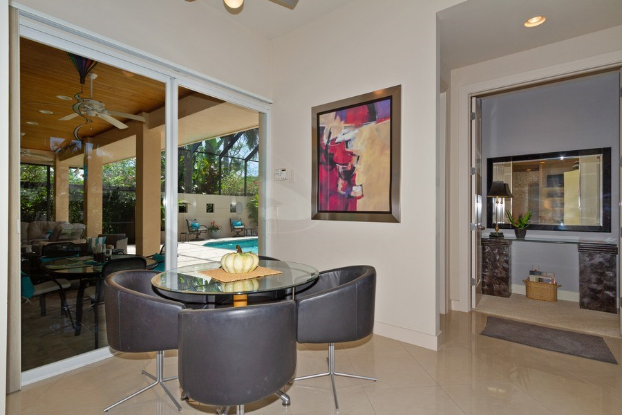 Real Estate Photography - 367 5Th Ave North, Naples, FL, 34102 - Breakfast Nook