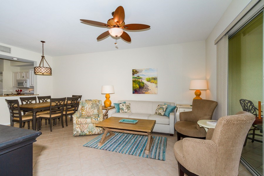 Real Estate Photography - 2345 Carrington Ct #102, Naples, FL, 34109 - Living Room