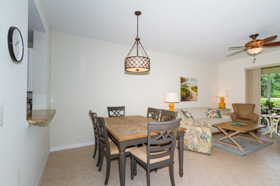 Real Estate Photography - 2345 Carrington Ct #102, Naples, FL, 34109 - Dining Room