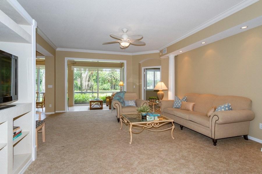 Real Estate Photography - 2130 Aberdeen Lane, #102, Naples, FL, 34109 - Living Room