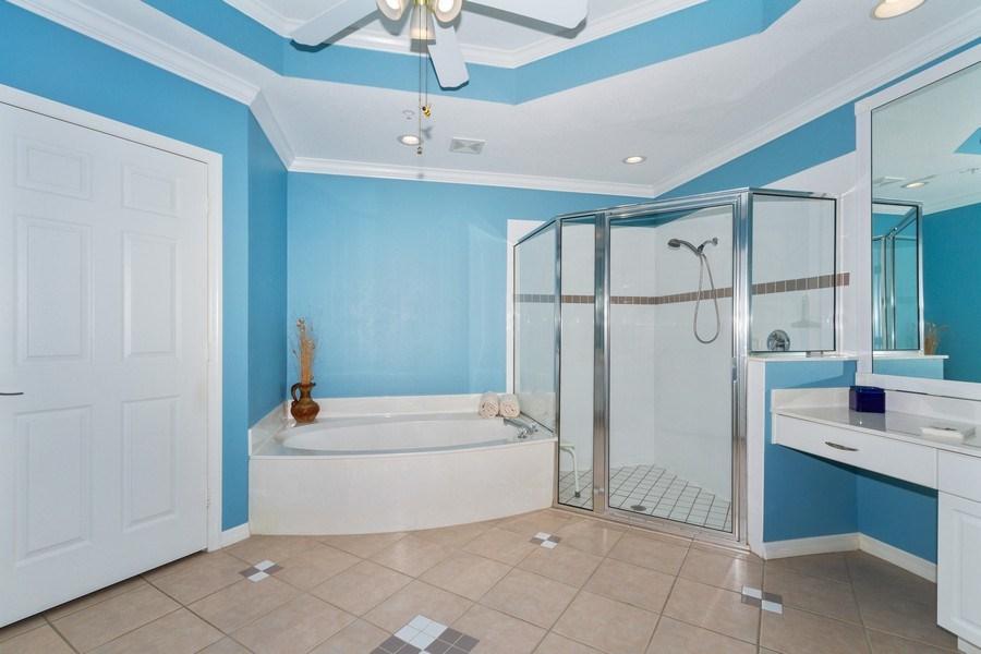 Real Estate Photography - 2130 Aberdeen Lane, #102, Naples, FL, 34109 - Master Bathroom