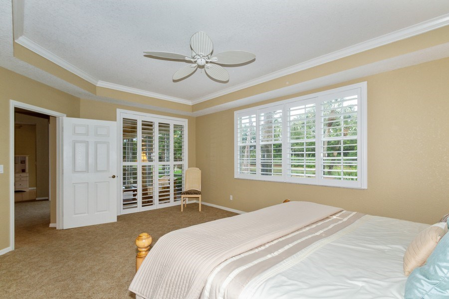 Real Estate Photography - 2130 Aberdeen Lane, #102, Naples, FL, 34109 - Master Bedroom