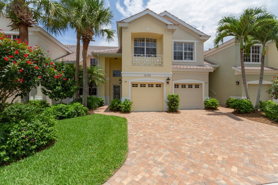 Real Estate Photography - 2130 Aberdeen Lane, #102, Naples, FL, 34109 - Front View