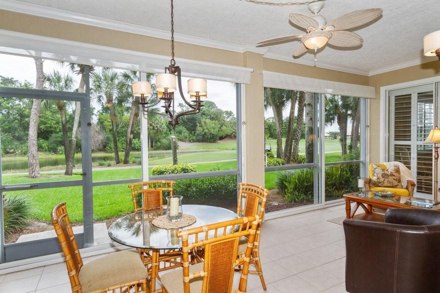 Real Estate Photography - 2130 Aberdeen Lane, #102, Naples, FL, 34109 - Lanai